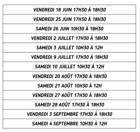 Dates de permanences