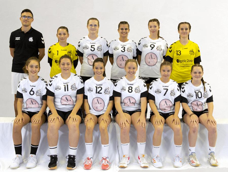 U17 feminines pouzauges vendée handball